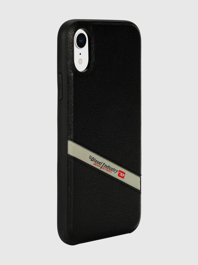 Diesel - DIESEL LEATHER CO-MOLD CASE FOR IPHONE XR, Negro - Fundas - Image 6