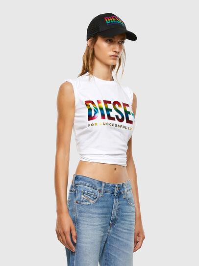 Diesel - BFOWT-SILY-P, Blanco - Camisetas - Image 4