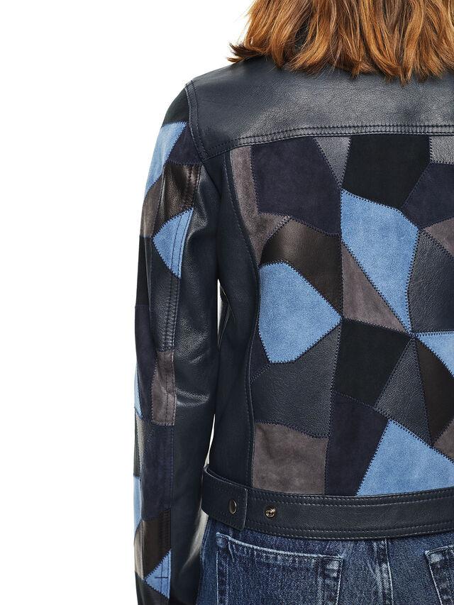 Diesel - LATCHY, Azul - Chaquetas de piel - Image 4