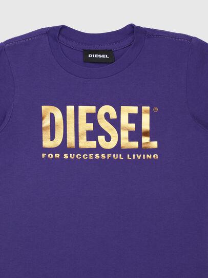 Diesel - TJUSTLOGOB-FL ML-R, Violeta - Camisetas y Tops - Image 3