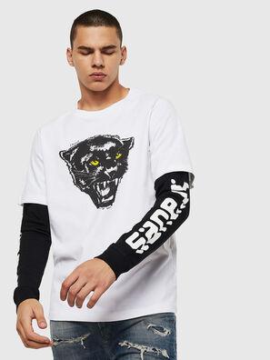 T-SHOOT-B2, Blanco/Negro - Camisetas