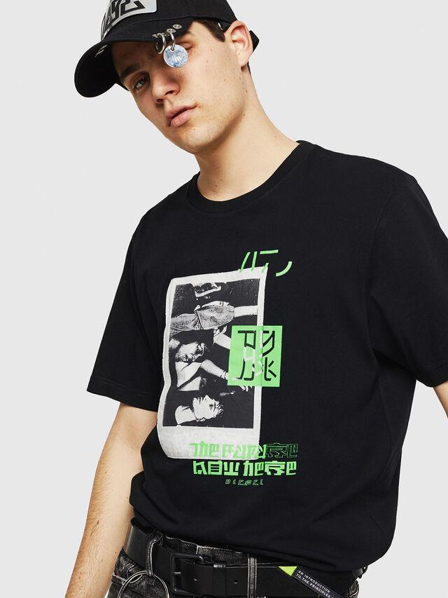 Diesel - T-JUST-Y21, Negro - Camisetas - Image 4