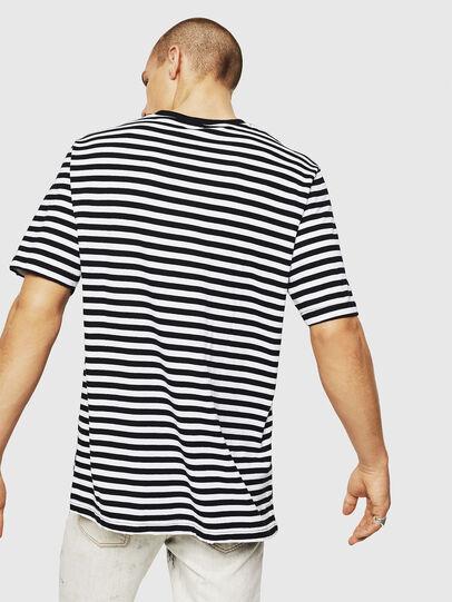 Diesel - T-VIKTOR, Negro/Blanco - Camisetas - Image 2