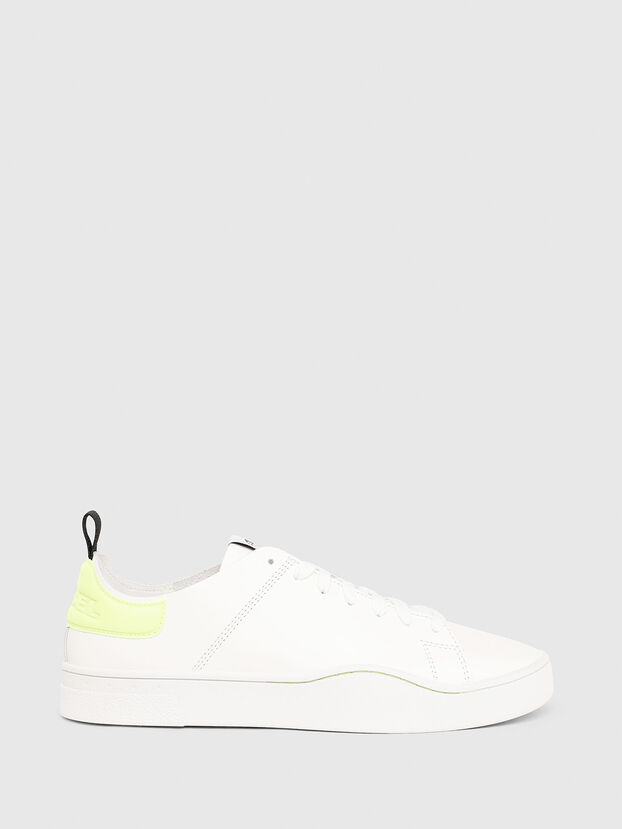 S-CLEVER LS, Blanco/Amarillo - Sneakers