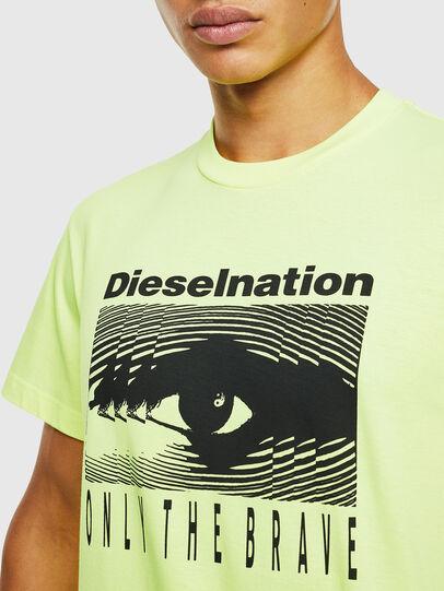 Diesel - T-DIEGO-J4, Amarillo Fluo - Camisetas - Image 5