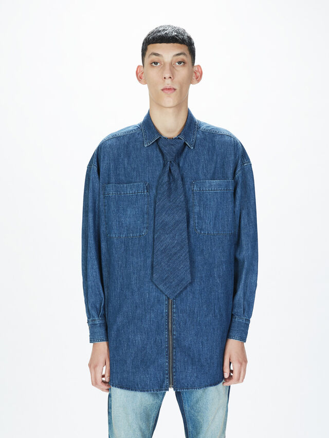 Diesel - SOTS01, Azul Oscuro - Camisas - Image 3