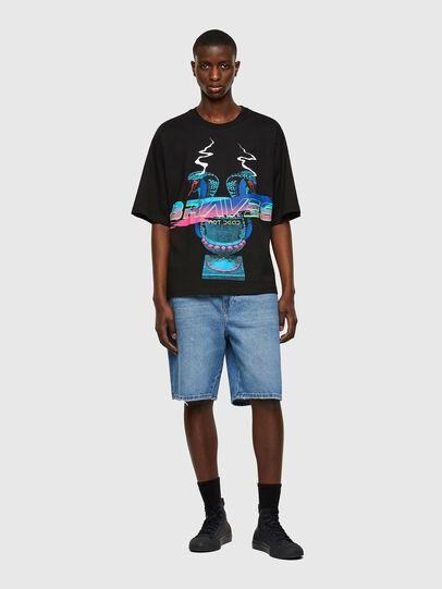 Diesel - T-DELPHI-E1, Negro - Camisetas - Image 4