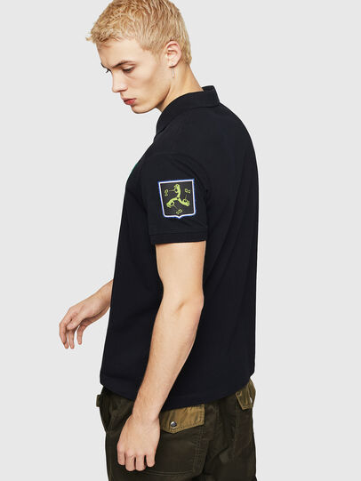 Diesel - T-POLO-PATCHES, Negro - Polos - Image 2