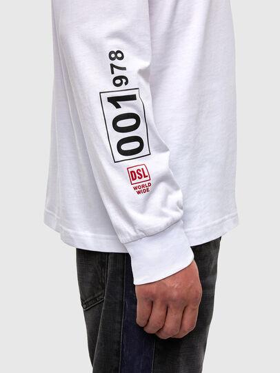 Diesel - T-JUST-LS-N62, Blanco - Camisetas - Image 3
