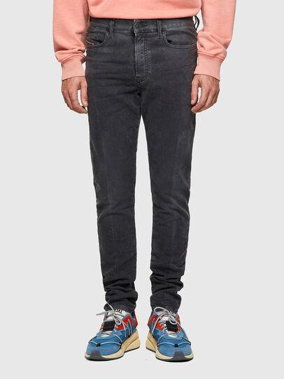 Diesel - D-Amny JoggJeans® 09A74, Negro/Gris oscuro - Vaqueros - Image 1