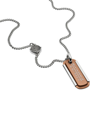 Diesel - NECKLACE DX1095, Bronce - Collares - Image 2