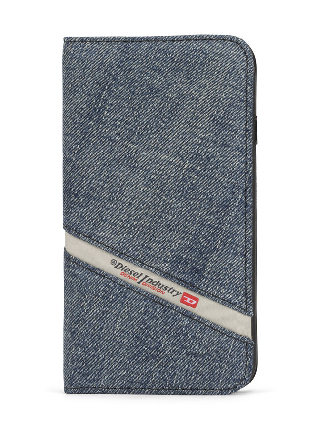 Diesel DENIM IPHONE 8 PLUS/7 PLUS FOLIO, Blue Jeans - Fundas tipo libro - Image 1