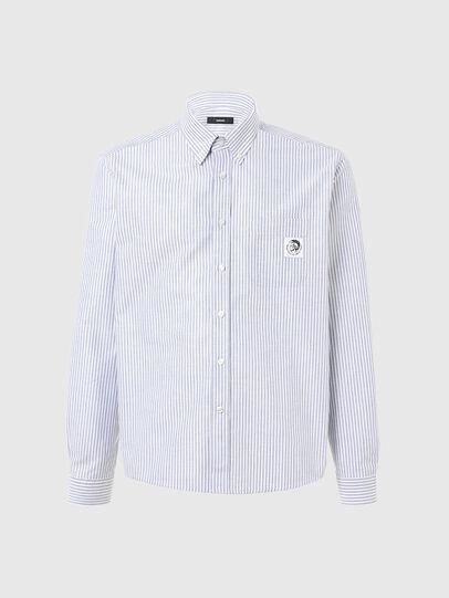 Diesel - S-JAMES-A, Azul marino/Blanco - Camisas - Image 1