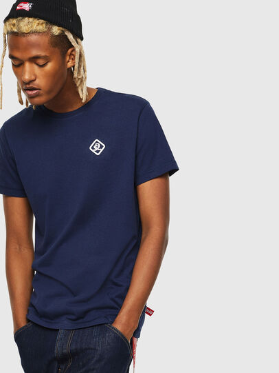 Diesel - CC-T-DIEGO-COLA, Azul Oscuro - Camisetas - Image 1