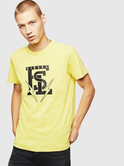Diesel - T-DIEGO-B14, Amarillo - Camisetas - Image 1