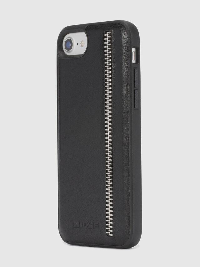 ZIP BLACK LEATHER IPHONE 8 PLUS/7 PLUS/6s PLUS/6 PLUS CASE, Negro