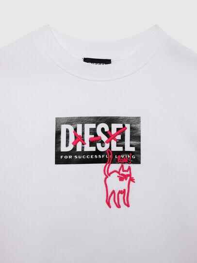 Diesel - SMUGD OVER, Blanco - Sudaderas - Image 3