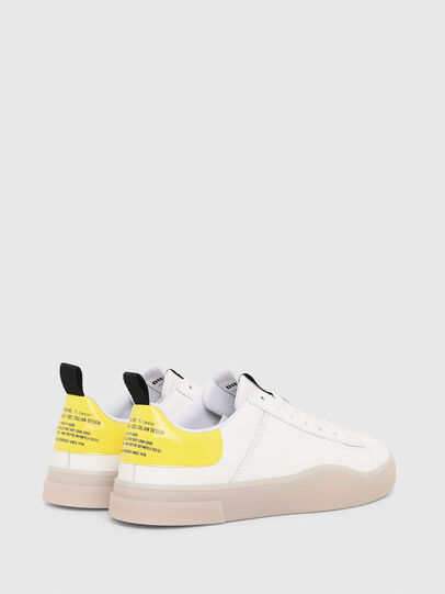Diesel - S-CLEVER LOW LACE W, Blanco/Amarillo - Sneakers - Image 3