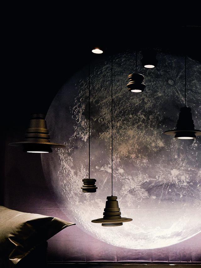Living TOOL GRANDE SOSP, Negro - Lámparas de Suspensión - Image 3