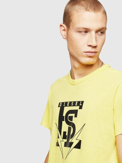 Diesel - T-DIEGO-B14, Amarillo - Camisetas - Image 3