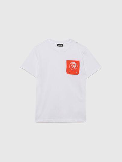 Diesel - TLARS, Blanco/Naranja - Camisetas y Tops - Image 1