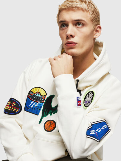 Diesel - S-ALBY-PATCHES, Blanco - Sudaderas - Image 3