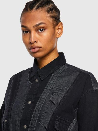 Diesel - DE-RINGLE, Negro - Camisas de Denim - Image 5