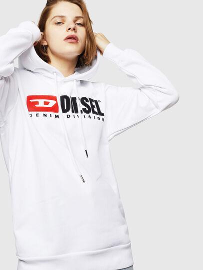 Diesel - F-GIR-HOOD-DIVISION-, Blanco - Sudaderas - Image 1
