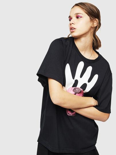 Diesel - T-JUSTINA, Negro - Camisetas - Image 1