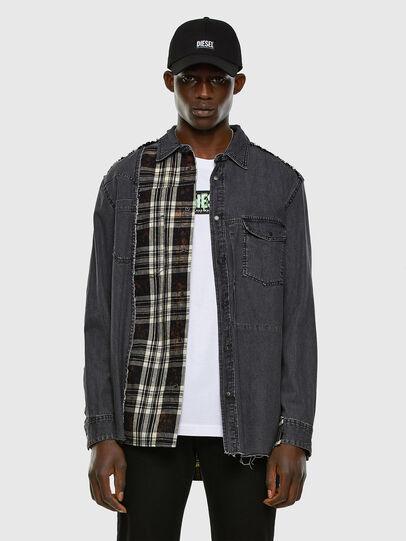 Diesel - D-FINLY, Gris oscuro - Camisas de Denim - Image 5