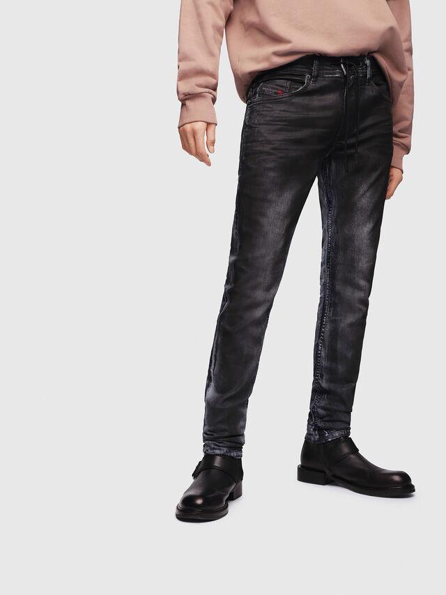 Diesel - Thommer JoggJeans 086AZ, Negro/Gris oscuro - Vaqueros - Image 1