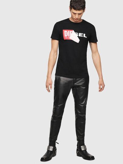Diesel - T-DIEGO-QA, Negro - Camisetas - Image 4