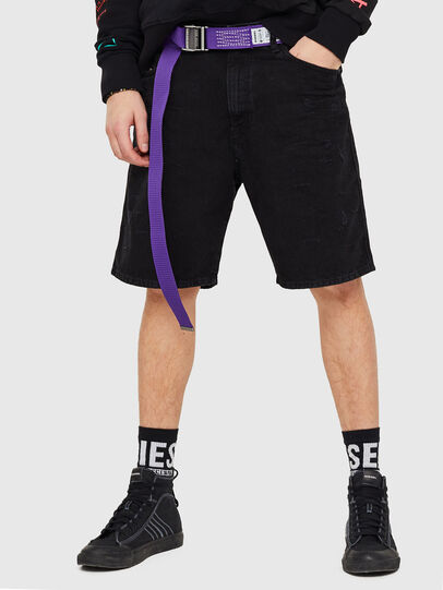 Diesel - D-WILLOH, Negro/Gris oscuro - Shorts - Image 1