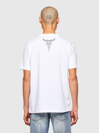 Diesel - CL-T-JUST-O, Blanco - Camisetas - Image 3