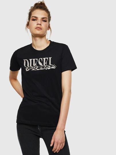 Diesel - T-SILY-WN, Negro - Camisetas - Image 1