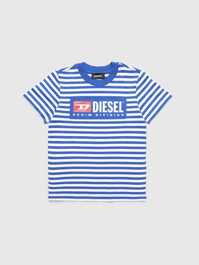 Diesel - TVIKB-R, Azul/Blanco - Camisetas y Tops - Image 1