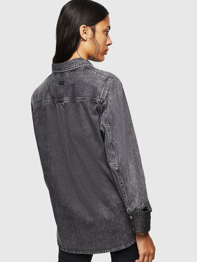 Diesel - DE-COLLY, Negro/Gris oscuro - Camisas de Denim - Image 2