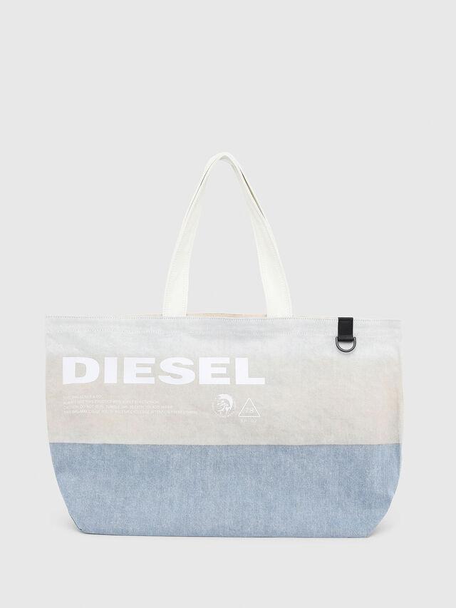 Diesel - D-THISBAG SHOPPER L, Blanco/Azul - Bolsos Shopper y Al Hombro - Image 1