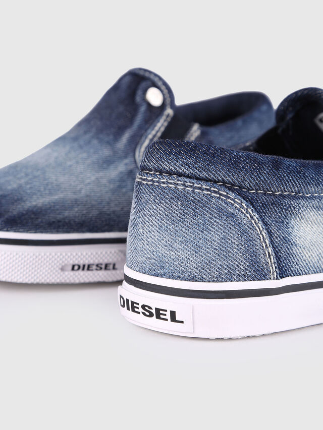 Diesel - SLIP ON 21 DENIM YO, Blue Jeans - Calzado - Image 5