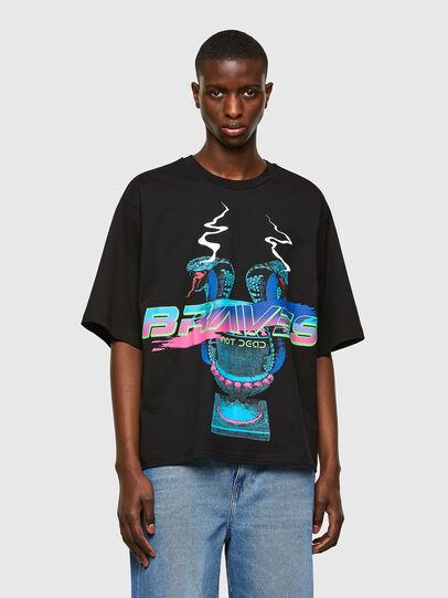 Diesel - T-DELPHI-E1, Negro - Camisetas - Image 1