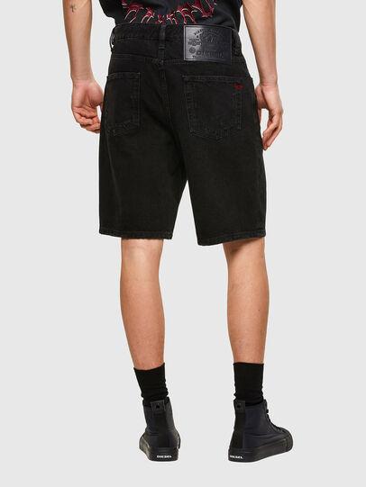 Diesel - D-STRUKT-SHORT, Negro/Gris oscuro - Shorts - Image 2
