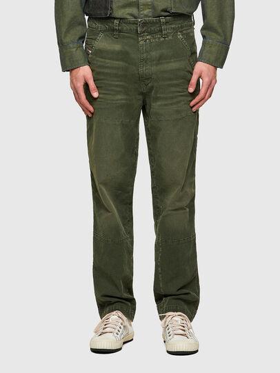 Diesel - D-Azerr JoggJeans® 069WH, Verde Militar - Vaqueros - Image 1