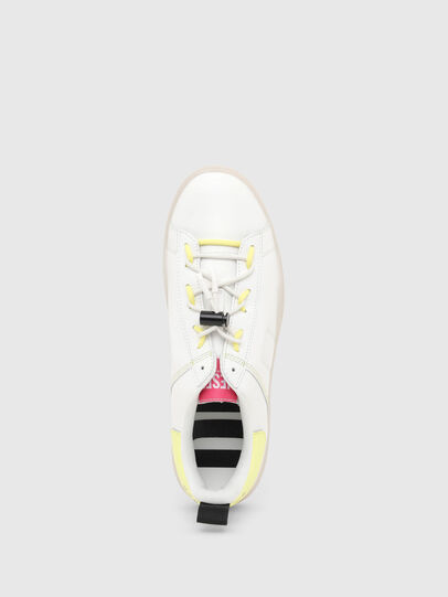 Diesel - S-CLEVER SO C, Blanco/Amarillo - Sneakers - Image 5