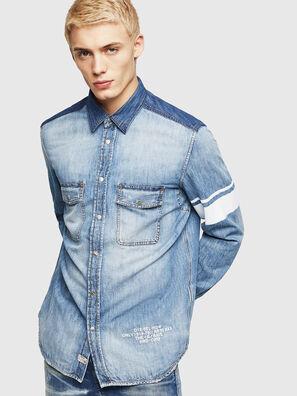 D-MILLER, Blue Jeans - Camisas de Denim