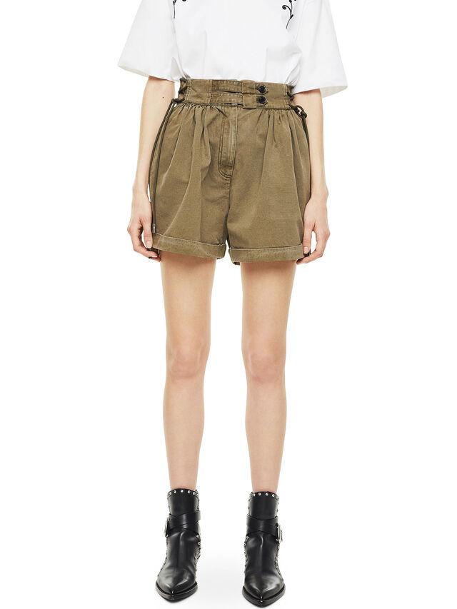 Diesel - SIMONY, Verde Militar - Shorts - Image 1