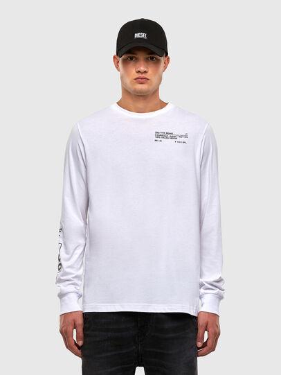 Diesel - T-JUST-LS-N62, Blanco - Camisetas - Image 1