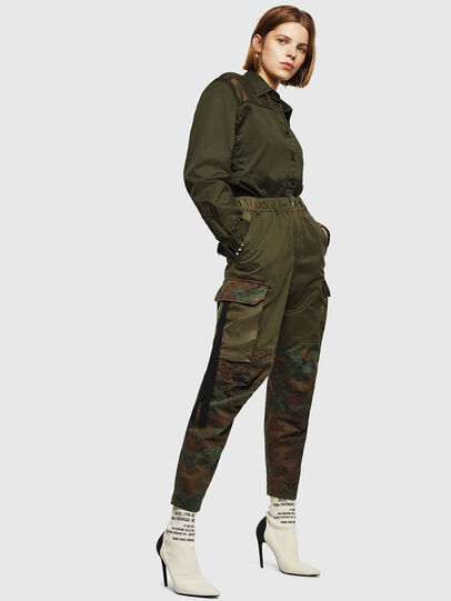 Diesel - P-THENA-A, Verde Camuflaje - Pantalones - Image 6
