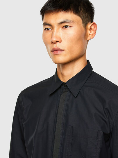 Diesel - S-OLSEN, Negro - Camisas - Image 3