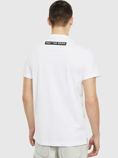 Diesel - T-WORKY-SLITS, Blanco - Camisetas - Image 2