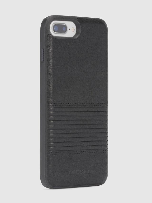Diesel BLACK LINED LEATHER IPHONE 8 PLUS/7 PLUS/6s PLUS/6 PLUS CASE, Negro - Fundas - Image 5